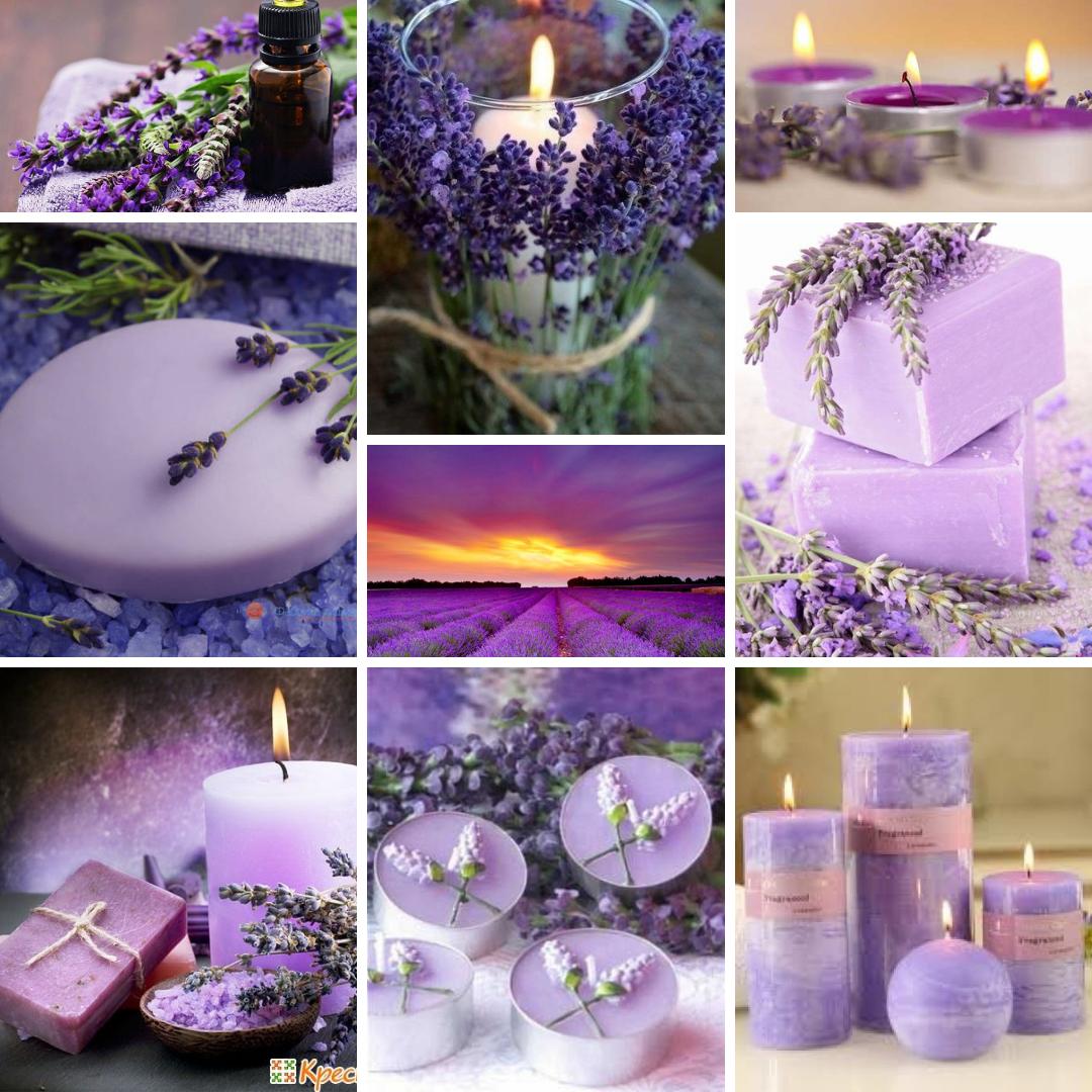 лаванда, натхнення, свічки